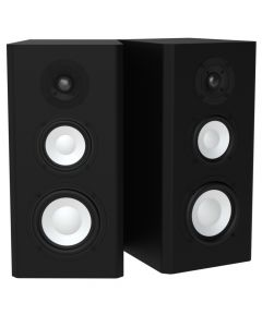 M5HP Bookshelf Speakers Black Oak