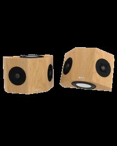 QS8 Surround Sound Speakers Maple Natural Satin