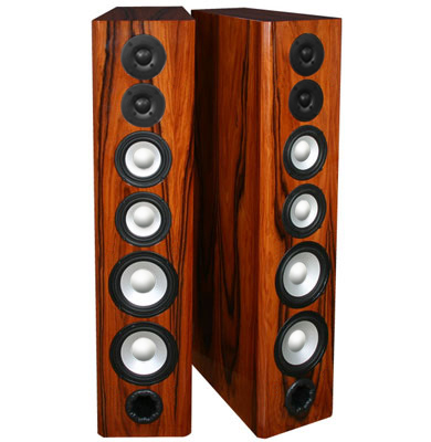 Floor Standing Speakers in High Gloss Rosewood