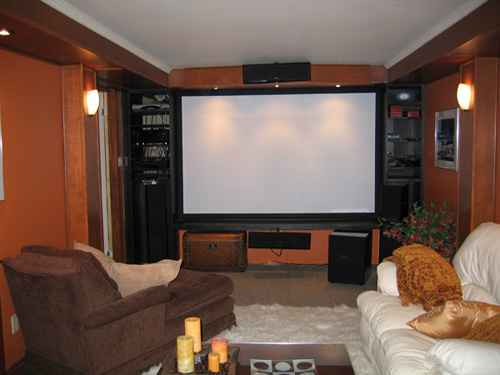 Theater with Projection Screen