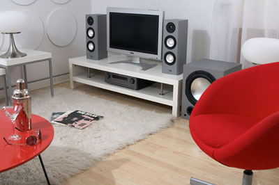 Bookshelf speakers and subwoofer